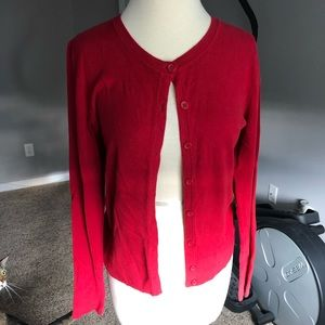 Merona Red Button Up Blouse